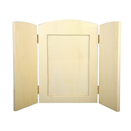 Rayher 62424000legno-cornice portafoto con pieghevole pagine pezzi, FSC 100%, 18,5x 13x 0,6cm