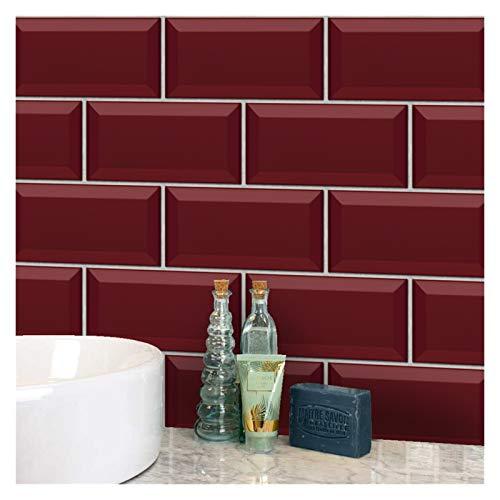 Vinilos Ladrillo 20x10cmpeel y pegatinas de azulejos de la pared de la pared, pegatinas de azulejo a prueba de agua de la vendimia Turquesa Terrazzo azulejo adhesivo adhesivo pegatinas de pared para b