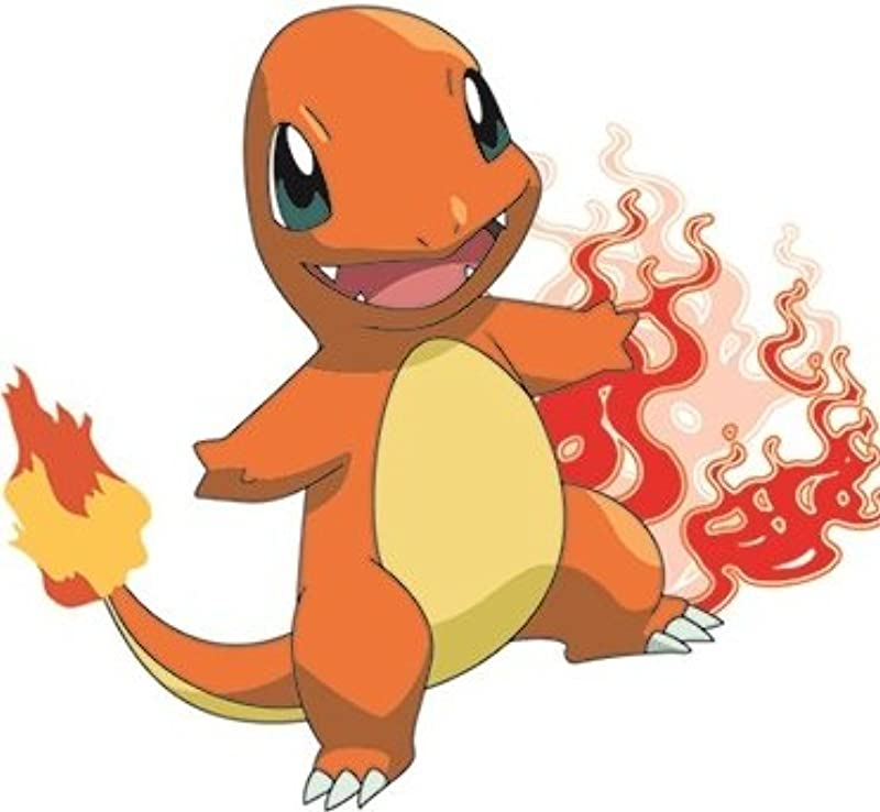 WiggleWalls 5 Inch Charmander Decal Repositionable Peel Self Stick Vinyl Wall Sticker Art Home Decor Kids Room 5 1 2 Wide By 4 1 2 Inches Tall