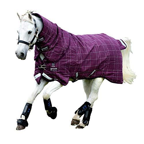 Horseware Rhino Pony Plus Medium Turnout tapijt - Berry/Grijs/Wit