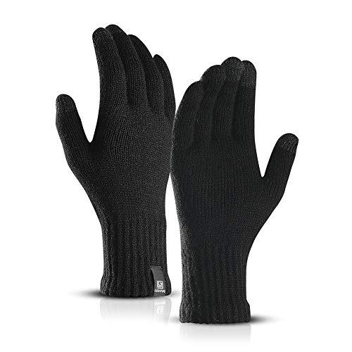 Winter Touchscreen-Handschuhe Anti-Rutsch für Damen Herren,Fäustlinge Strickhandschuhe Outdoor-Warm-Handschuhe Wasserdichte Touchscreen Gloves Wool Plus Velvet -Handschuhe zum Telefonieren