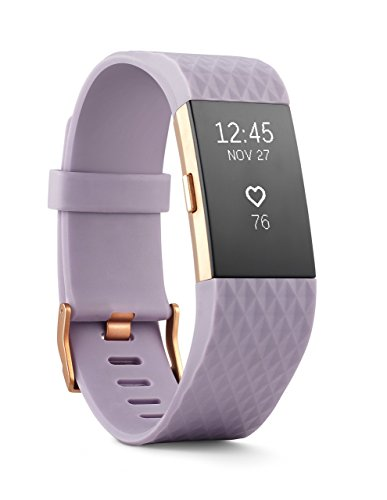 Fitbit Charge 2 Heart Rate + Fitness Wristband, Special Edition, Lavender Rose Gold, (US Version), Large (6.7 - 8.1 Inch) (Renewed)