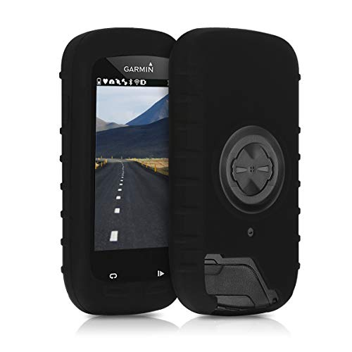 kwmobile Hülle kompatibel mit Garmin Edge 1000 / Explore 1000 - Silikon GPS Fahrrad Navi Cover Case Schutzhülle - Schwarz