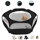 XIRGS <span class='highlight'>Small</span> Animal Playpen, Waterproof <span class='highlight'>Small</span> Pet Cage Tent Portable Outdoor Exercise Yard Fence with Top Cover Anti Escape Yard Fence for Hamster/Kitten/Cat/Rabbits/Bunny/Guinea Pig/Puppy/Chinchillas