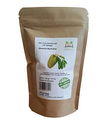 FINFAST Guanabana/Soursop/Graviola/Guyabano Leaf Tea (50 Teabags)