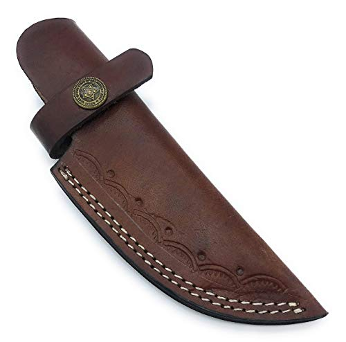 "7"" long custom handmade leather sheath for 4"" cutting blade knife"