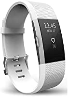 T Tersely Watch Band Strap for Fitbit Charge 2, Classic Soft TPU Silicone Adjustable Replacement Bands Fitness Sport...