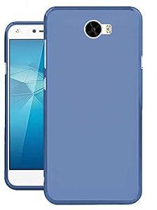 Todobarato24h Funda TPU Lisa Compatible con Huawei Y6 II Compact / Y5 II 2016 Azul