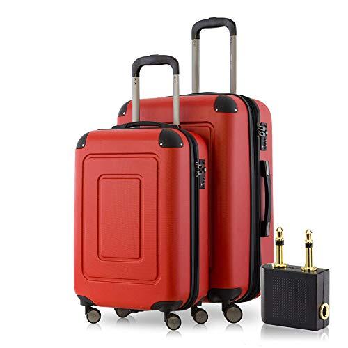 Happy Trolley Lugano Juego de Maletas 66 Centimeters 78 Rojo (Rot)