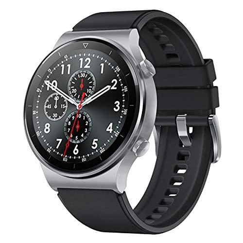 YUNZHIDUAN Reloj Inteligente para Hombres, Rastreador De Ejercicios, Reloj Deportivo a Prueba De Agua IP67, Llamadas Bluetooth, Monitoreo Científico del Sueño, Adecuado para Android E iOS