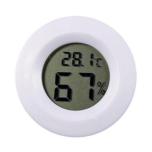 Mini LCD Digital Thermometer asiproper Hygrometer Kühlschrank Gefrierschrank Tester Temperatur, weiß