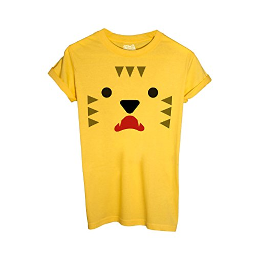 MUSH T-Shirt Tiger Face - LUSTIG by Dress Your Style - Baby-XL-Gelb