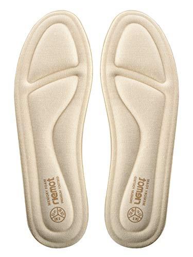 riemot Plantillas Memory Foam para Zapatos de Hombre y Mujer, Plantillas para Zapatillas Botas, Cómodas y Amortiguación para Trabajo, Deportes, Caminar, Senderismo Beige EU 40