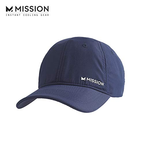 MISSION Cooling Performance Hat- Unisex Baseball Cap, Cools When Wet- Navy