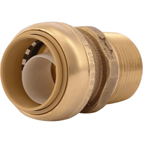 SHARKBITE/CASH ACME - 1 x 1-In. MIP Straight Pipe Connector, Lead-Free