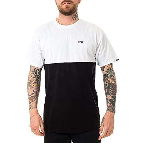 Vans Colorblock Tee T-Shirt, Multicolore (Black/White Y28), Medium Uomo