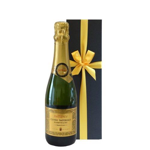 【お祝い】 誕生日 結婚祝い 結婚記念日 スパークリングワインギフト ハーフボトル フランス コート・デュ・ローヌ ミュスカ ジャイアンス キュヴェ・トラディション 375ml 包装付き ギフトボックス入り【ギフト】贈答用 贈り物 プレゼント