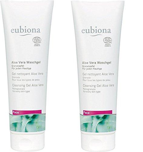 Eubiona Aloe Vera waschgel Face, Granada para todo tipo de pieles, 2x 125ml