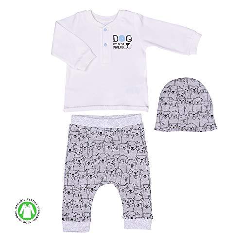 Sevira Kids - Ensemble vêtements Bébé 3 pièces en coton biologique - Best Friend
