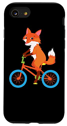 iPhone SE (2020) / 7 / 8 Fox Riding Bike | Cool Wild Animal Lovers Funny Gift Case