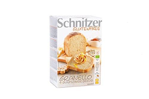Schnitzer Korek przeciwsłoneczny z nasionami słonecznika, bez glutenu (2 x 250 g) 500 g bio chleb, 2 sztuki w opakowaniu (2 x 500 g)