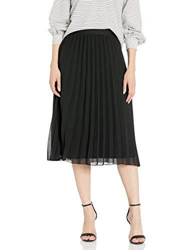 A. Byer – Falda de Cintura elástica Plisada para Mujer, Negro, M