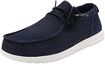 Bruno Marc Men's Linen Canvas Stretch Loafer Shoes