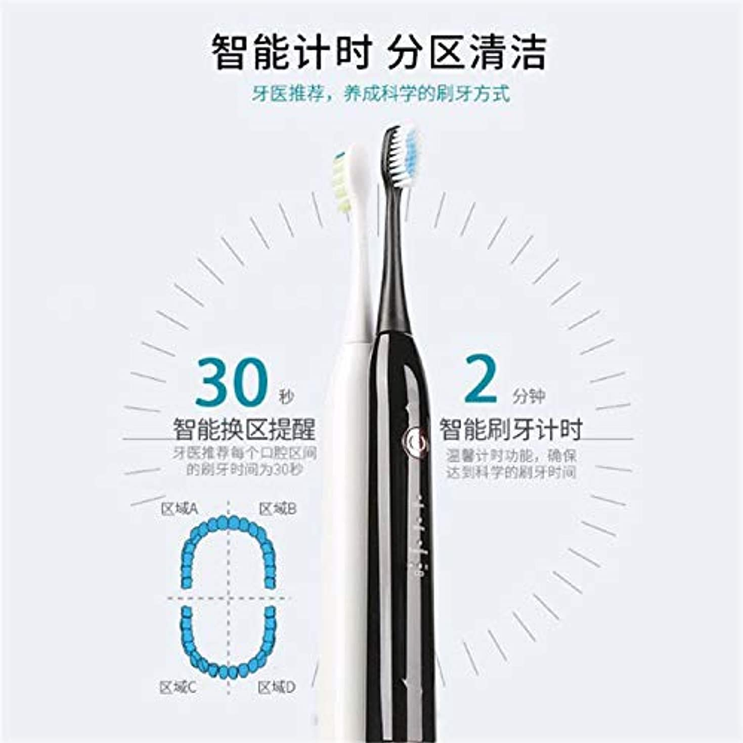 ブリード休日最適ワイヤレス誘導 電動歯ブラシ 大人の音波が歯を振動させる、高品質の毛の歯ブラシ