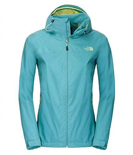 The North Face W Sequence - Chubasquero para Mujer, Color Verde, Talla S