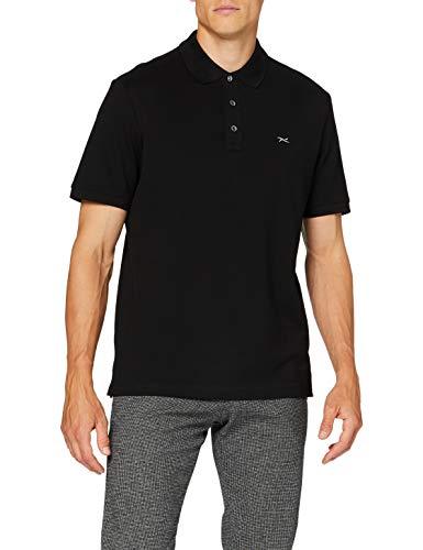 BRAX Herren Style Pete Hi Flex Piqué Poloshirt, Black, XXXXX-Large