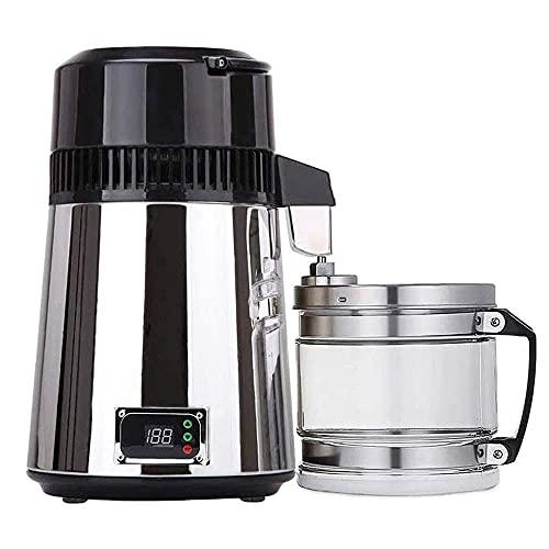 JW-YZWJ Máquina de fabricación de Agua destilada 4L, 304 Purificador de Agua de Acero Inoxidable Distillero Purificador de Agua de Temperatura Ajustable para Hacer Agua Limpia para el hogar