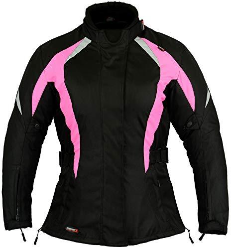 Blouson de protection étanche pour moto, rose, pour femme - Rose - L