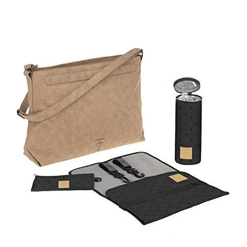 LÄSSIG 1101030331 baby luiertas inclusief wikkelaccessoires duurzaam geproduceerd Tender Shoulder Bag camel, bruin