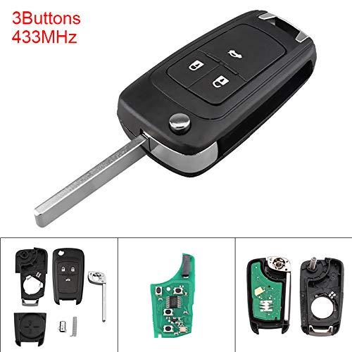 ePathChina® Clé à distance à 3 boutons sans clé sans clé avec puce ID46 pour Astra J 2014-2016 Corsa E 2009-2015 Insignia 2012-2016 ZafiraC