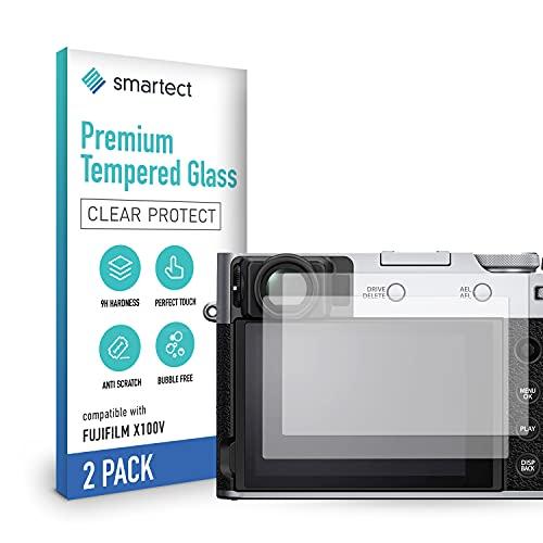 smartect Cristal Templado para Móvil Fujifilm X100V [2 Unidades] - Protector de pantalla 9H - Diseño ultrafino - Instalación sin burbujas - Anti-huella