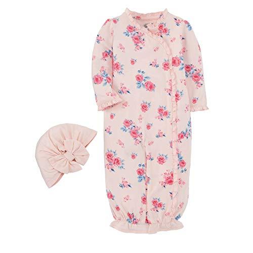 Mud Pie Little Bloom Gown Hat Set of 2 Pink