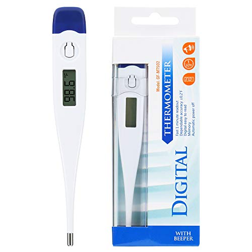Oral Digital Thermometer for Fever Accurate and Readings in 10-20 Seconds,LCD Digital Thermometer Temperature Measurement Mouth for Baby Kids and Adult 2 PACK