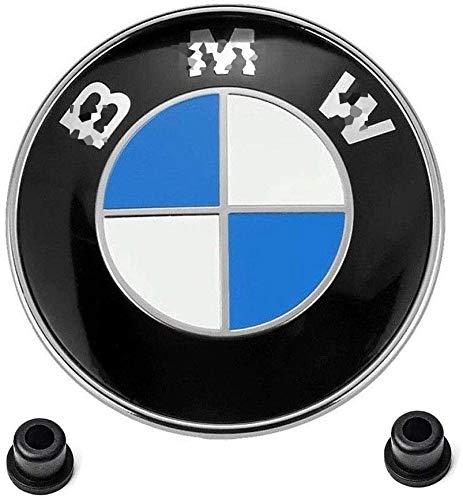 B-M-W Embleme für Motorhaube und Kofferraum, 82 mm + 74 mm, B-M-W Logo, Ersatz für B-M-W E46 E30 E36 E34 E38 E39 E60 E65 E90 325i 328i X3 X5 X6 3 4 5 6 7 8 Series, 1 Stück, 82 mm