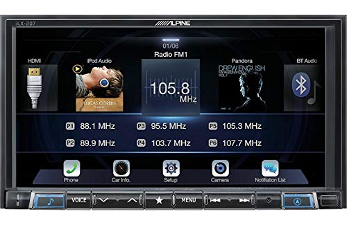 Alpine iLX-207 7-Inch Mech-Less Audio/Video Receiver