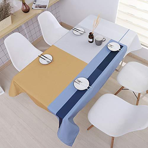 HEZESHOP Tischdecke kann gewaschen Werden Dekorative Tischdecke Tischdecke Rechteckige Tischdecke Tischdecke Kamin Arbeitsplatte 100X140CM