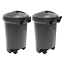 Best 32-Gallon Dual Pack Outdoor Waste Bin
