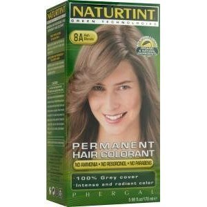 Naturtint permanent natural Hair Colour (155ml, 8 A (Ash Blonde)) by Natures Dream