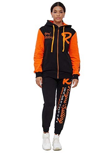 Code47 Jogginganzug Damen 3677 Schwarz Orange S