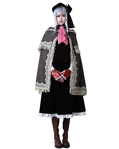 Miccostumes Damen Bloodborne Puppe Cosplay Kostüm mit Hut -  Schwarz -  Large