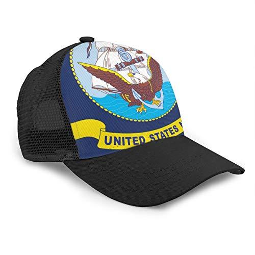 Unisex Baseballmütze, Motiv: United States, Marineblau, Adler, Anker für Damen, Herren, verstellbar, Trucker aus Netzstoff, 6 Panel, Polo-Stil