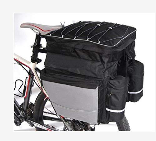 Fietsachtertas, mountainbike, drie-in-één fietstas, fietstas, dubbele tas, rijuitrusting met regenhoes