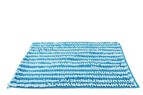 Desconocido Alfombra de baño Microfibra 40x60, Alfombrilla Antideslizante, Lavable, Suave, Absorbente (Azul Turquesa)