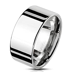Bungsa 62 (19.7) Herren-Ring BREIT Silber Edelstahl massiv breiter Band-Ring breite Ringe Männer