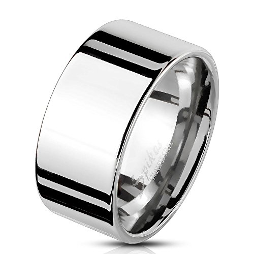 67 (21.3) Bungsa® Herren-Ring BREIT silber Edelstahl massiv breiter Band-Ring breite Ringe Männer