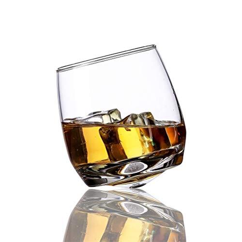 Yousiju Vaso Creativo Gyrate Copas de Vino Whisky escocés Vaso de Roca para Bar Oficina Hogar Cerveza Jack Whisky Copa de Cristal (Size : 1 Pieces)